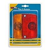 PRO PLUS 343603S Feu arrière 4 Fonctions Inclus Ampoules, 98x104 mm Rouge/Noir