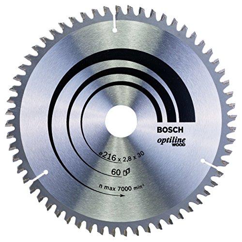 Bosch 2 608 640 642 - Hoja de sierra circular Optiline Wood - 216 x 30 x 2,8 mm, 60 (pack de 1)