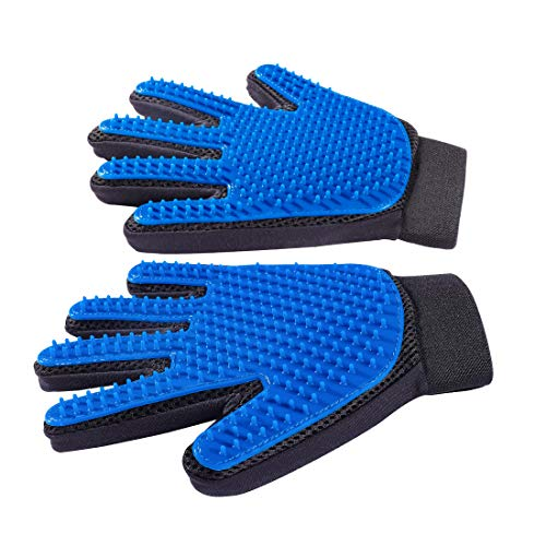 """Derosen Premium Pet Grooming Deshedding Gloves - 1 Pair - You and Your Pet Deserve The Very Best -""""Long Short Big or Small We Comb em All"""""""