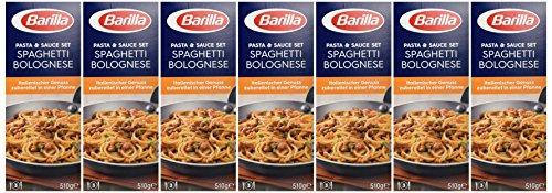 Barilla Pasta & Sauce Set Spaghetti Bolognese, 7er Pack (7 x 510 g) - 5