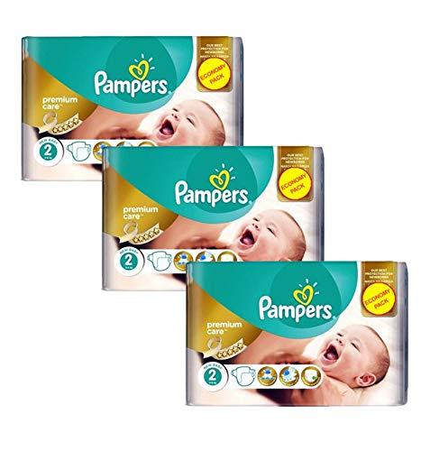 Couches Pampers - Taille 2 new baby premium protection premium care - 190 couches bébé