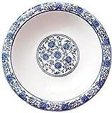 DYB Set di Piatti per la Cena, Piatti per la Cena Piatto Piatto Fondo in Porcellana Blu e Bianco Piatto Fondo Tondo per la casa dell'hotel (Dimensioni : 25 cm)