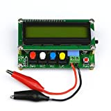 High Precision Inductance Meter Inductance Capacitance L/C Meter Digital Capacitor Meter LCD Capacitance Meter Tester Mini USB Interface with USB Data Cable