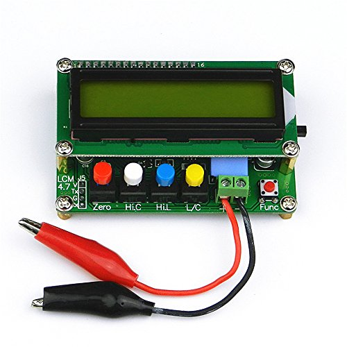 High Precision Capacitance Meter Inductance Capacitance L/C Meter Digital Capacitor Meter LCD Inductance Meter Tester Mini USB Interface with USB Data Cable
