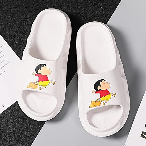 KaO0YaN Pantoufles d été Pokemon Pikachu, Chaussures Plates de Dessin animé Pikachu, Sandales de Plage antidérapantes pour garçon Fille été, Cadeau pour Enfant-white1_EU37-38