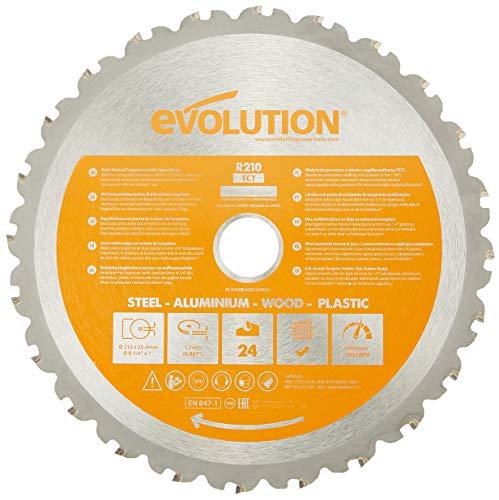 Evolution Elektrowerkzeuge - RAGE Mehrzweck-Sageblatt 210 mm mit Wolframkarbidbeschichtung