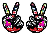 Peace Sign Stickerbomb Vinyl Sticker Decal
