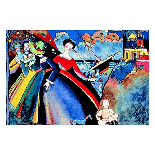 Kandinsky Ship Colorful Puzzles for Adults, 300 Piece Kids Jigsaw Puzzles Game Toys Gift for Children Boys And Girls, 10' x 15'