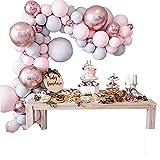 DanLink Juego de 174 globos para decoración de baby shower, cumpleaños, bodas y aniversarios