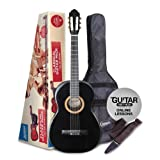 ASHTON SPC14BK - Guitarra clásica (tamaño 1/4), color negro