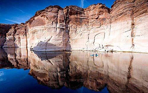 Hxfhxf Kleiner See In Den Bergen Arizona Arizona Kajak See Powell Gemälde Nach Zahlen DIY Unique40X50 cm (Kein Rahmen)