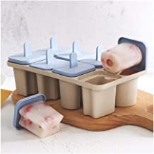 FKou DIY Letter Frozen Ice Cream Tools 8 Cells Wheat Straw Handle Tray Pan Mould Cube Molds Popsicle Maker Kitchen Cooking...