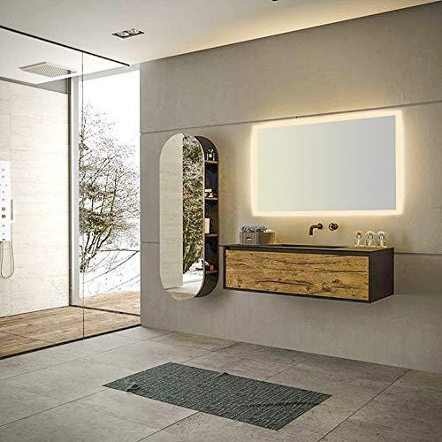 Qiyang Badezimmer LED Spiegel 1000 x 600 MM Warmweiß 3000K Hergestellt aus kupferfreiem Spiegel Rahmenlose LED beleuchtete Makeup Mrror mit Rückwand wasserdicht
