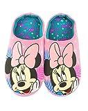 Rosa poliéster Zapatillas de casa de Disney Minnie Mouse Chica