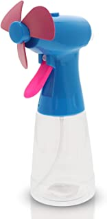 Fan with Water Spray Misting Fan Handheld - Personal Misting Fan with Mist As Battery Operated Fan Water Bottle Sprayer - Spray Bottle Fan Mister Handheld - Multiple Colors Portable Misting Fans