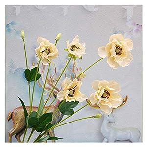 JSJJAED Artificial Flowers 8 Heads/Branch Poppy Artificial Flower Arrangement Bridesmaid Bouquets New Decoration Fake Flower Poppy Long Stem Home