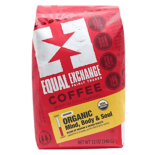 Equal Exchange Organic Ground Coffee, Mind Body Soul Bag,12 Ounce (Pack of 1)