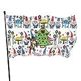 Gnomes Bandera de jardín para interiores y exteriores, 3 x 5 pies, banderas de playa duraderas y resistentes a la decoloración con encabezado, fácil de usar