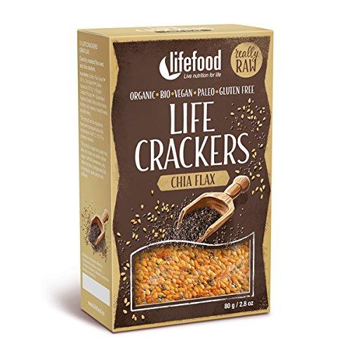 lifefood Life Crackers Chia Leinsamen, 4er Pack (4 x 80 g)