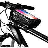 KT-GARY Bike Phone Mount Bag, Bicycle Front...