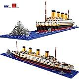 POXL Titanic Maquette Brique Construction, 1860 Pièces Puzzle Diamant Bateau 3D Modèle Jeu de Construction Kit