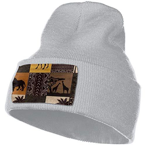 Tela de Animales Salvajes Unisex Invierno cálido Gorro de Punto Sombrero Cráneo Jogging Beanie