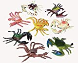 HAPPY DEALS ~ Set of 24 - Plastic Toy Crabs - Ocean and sea Life Toys and Novelties