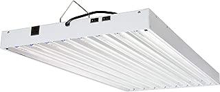 AgroBrite FLT48240 T5 4Ft 8 Tube 240V Fixture w/Bulbs, White