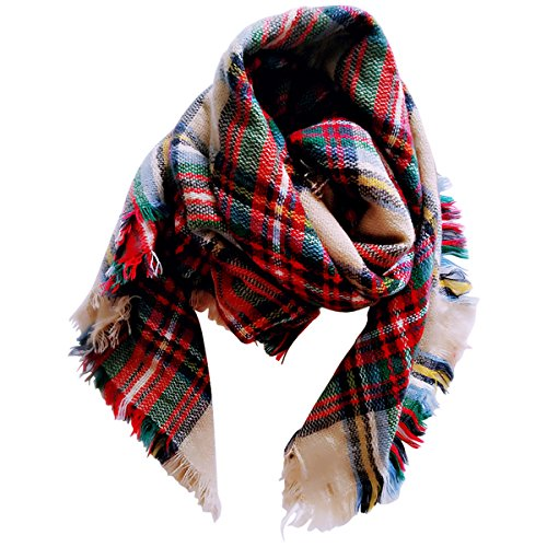Jastore Kids Girls Boys Stylish Grid Warm Blanket Scarf Gorgeous Wrap Shawl (Color 1)