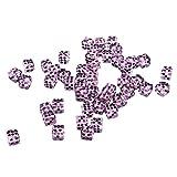 Perfeclan Set mit 50 Acryl Sechsseitigen Quadratischen Farbigen Spiel D6 12mm Würfelwürfel mit Pips - Lila