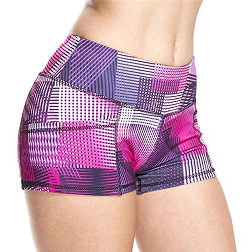 No-Branded WZGGZWGG Frauen einteiliger Anzug Fitness-Kleidung-Sommer-Training Laufen Gym Yoga Shorts for Damen Elastische Kurze Hosen (Color : Rosa, Size : S)