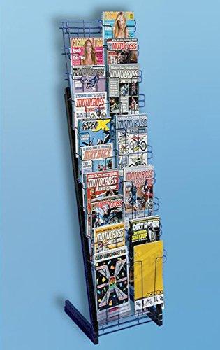 Magazine Literature Paper Scrapbook Rack 20 Pocket Black Merchandiser NEW