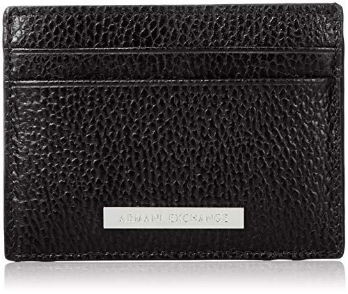 Armani Exchange Herren Credit Card Holder Geldbörse, Schwarz (Nero-Black), 1x10x7.6 cm