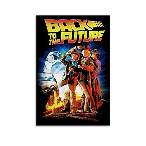 Poster vintage classico con film di ritorno al futuro su tela, decorazione da parete, per soggiorno, camera da letto, 30 x 45 cm