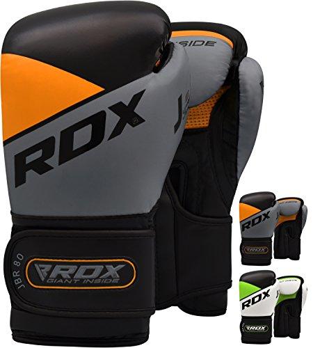 RDX Kinder Boxhandschuhe für Muay Thai und Training | Maya Hide Leder Junior 6oz Punchinghandschuhe für Sparring, Kampfsport, Kickboxen, Boxsack, Fitness, Sandsack Boxing Gloves (MEHRWEG)