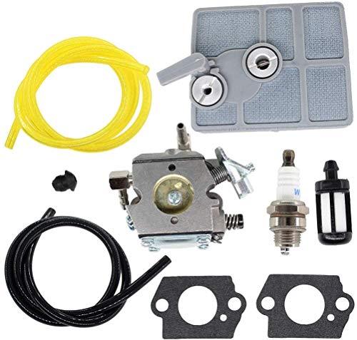 Passt perfekt Carburador con bujía del filtro de aire de la junta de la bujía para STIHL 030 031 032 AV 031AV 032AV 030AV Reemplazos Walbro WA-2 WA-2-1 11131200602 Bitte überprüfen Sie das Modell