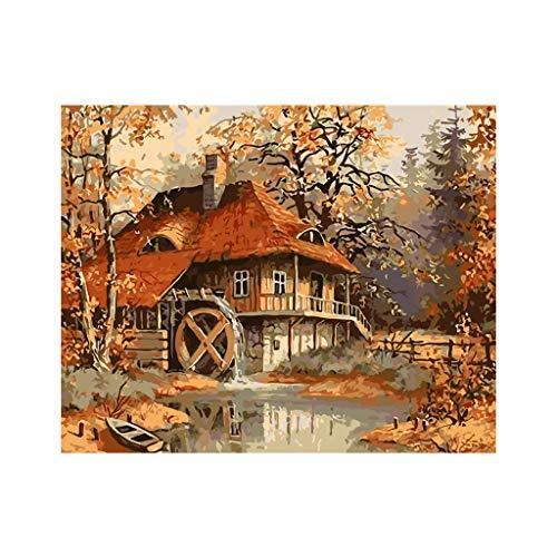 nach Zahlen Leinwandbild Wandbild Dekoration Haus rahmenlos DIY Digital Ölgemälde