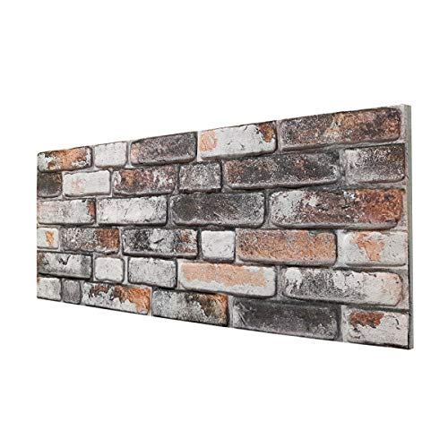 URBAN BRICK - Panel de imitación de ladrillo de EPS resinado, tamaño 100 x 50 cm, grosor 2 cm