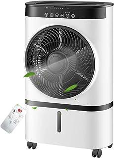 TONG Los Ventiladores portátiles for Salas, Enfriador evaporativo 3 velocidades y Modo, Pequeño Ahorro de energía de Aire Acondicionado con Control Remoto, Temporizador y 12h 7L del Tanque de Agua