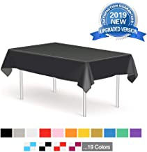 Plastic Tablecloth Disposable Table Cover, Heavy Duty 6 Pack 54