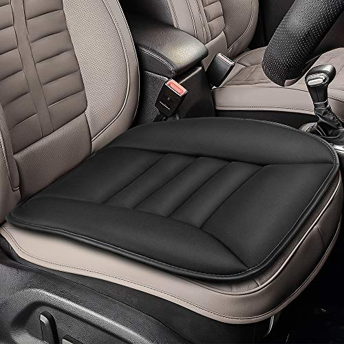 Tsumbay Car Seat Cushion Pressure Relief Memory Foam Seat Cushion Comfort Seat Protector for Car Driver Office/Home Chair Seat Cushion with Non Slip Bottom - Black
