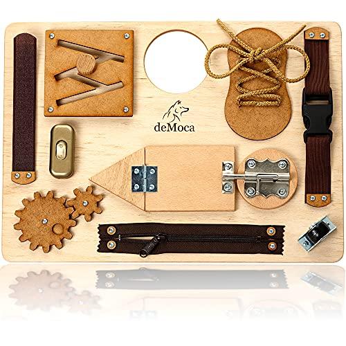 Busy Board Montessori - Panneau d'Activités Enfants - Jouets Sensoriels en Bois pour Enfant 1 2 3...