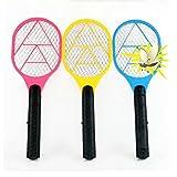 STRIR 1pc Raqueta Eléctrica Caza Mosquitos - matamoscas Eléctrico y Otros Insectos voladores, Raqueta exterminadora Insectos, Raqueta Anti-Insectos - Color Aleatorio