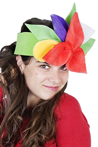 Sombrero de gomaespuma flores de colores