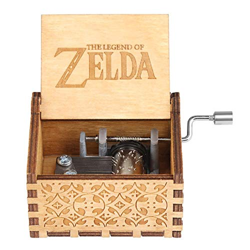 Mikolot Hölzerne Handkurbel Spieluhr Movie Theme Geburtstag Weihnachten Geschenk (Legende von Zelda)