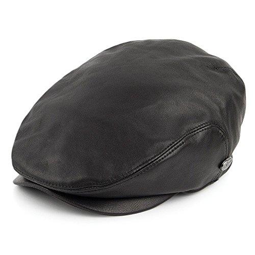 Village Hats Casquette Plate en Cuir Stockton Bailey - Large