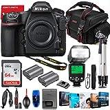 Nikon D850 DSLR Camera Body Only Bundle + Premium Accessory Bundle Including 64GB Memory, TTL Auto Multi Mode Flash, Photo/Video Software Package, Shoulder Bag & More