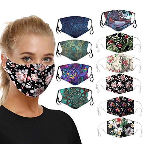 10Pcs  Reusable Mouth Coverings for Adults $18.00 (80% OFF)