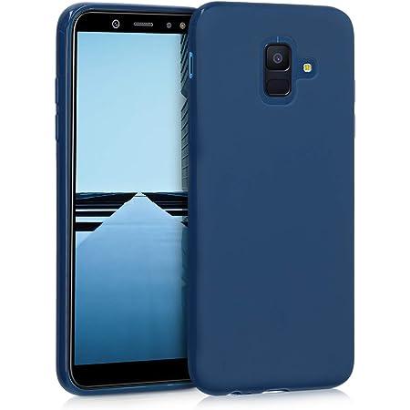 kwmobile Coque pour Samsung Galaxy A6 (2018) - Housse Protectrice pour Téléphone en Silicone Bleu Marine