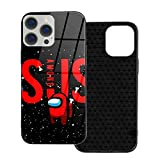 Sus Among Us Tempered Glass Phone Case Cover for iPhone 12 Pro MAX 12 Mini 11 Pro MAX XR X/XS SE 2020/7/8 6/6s Plus Samsung Series